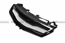 For Honda 07-11 Civic FN2 Type R Front Grill Grille Mesh Cover Kit Carbon Fiber