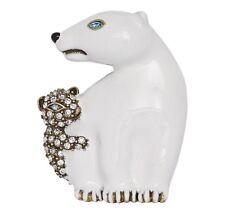 "Polar Bear Pin Brooch Heidi Daus ""Polar Vortex"""