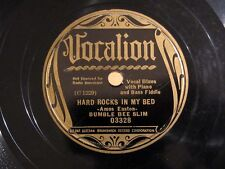 Pre-War Blues BUMBLE BEE SLIM Hard Rocks In My Bed VOCALION 03328