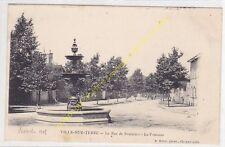 CPA 10200 VILLE SUR TERRE rue de Soulaines La Fontaine Edit RALE ca1909