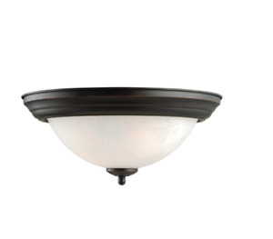 Design House Millbridge 2-Light Oil Rubbed Bronze Ceiling Mount Light Fixture