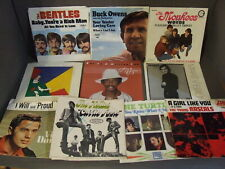 LOT OF 10 V/A EMPTY PICTURE SLEEVES MONKEES, BEATLES, BUCK OWENS, THE HOLLIES