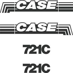 Decal Sticker Set Case 721C Loading Shovel Decal Set