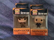 Doctor who  4th  and  12th  doctors  keyring Funko figures