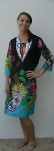 Black Floral Dress Ladies Girls Summer Fashion (D4)