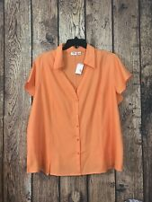 CATO ORANGE BUTTON FRONT SHIRT SIZE  - 26/28W