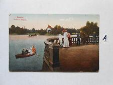 Postkarte Ansichtskarte Sachsen.Breslau Partie im Südpark