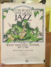 ROCKY MTN. JAZZ FESTIVAL - Colorado Home-Grown Jazz - July 3, 1982  Rare POSTER