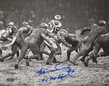 Norm Snead Autographed 8x10 Philadelphia Eagles 4 Time Pro Bowl Inscription
