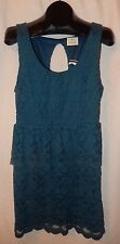 New Urban Outfitters PINS AND NEEDLES Blue Lace Sleeveless Keyhole Dress Size L