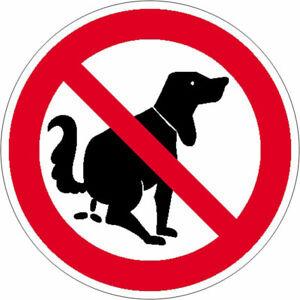 Verbotsschild Hier kein Hundeklo / Alu / Aufkleber / Schild Hundekot