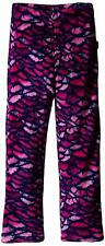 Calvin Klein Girls' Printed Plush Sleep Pant, Fuchsia, 5/6