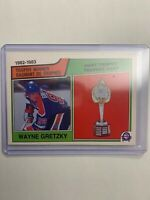 1983-84 O-Pee-Chee 1982-1983 Trophy Winner Hart Trophy #203 Wayne Gretzky OPC