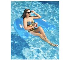Intex Sit n Float Lounge Inflatable Adult Pool Float Floaty Blue Brand New