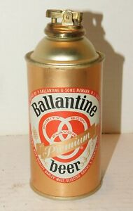 Vintage BALLANTINE BEER Table CONE TOP BEER CAN LIGHTER Clean Condition