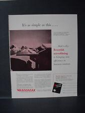 1946 Recordak Microfilm Technology New Efficiency Vintage Print Ad 11006