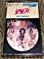 Slayer Live Undead. Cassette Tape Plays Well Raw Thrash Metal