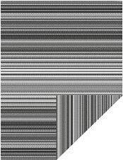 JBGO Reversible Woven Outdoor Rug, 4' x 6' Lightweight Large Plastic Striped Sta