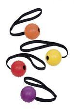 Hundespielzeug Ball Wurfseil Gummi Vollgummiball SPIKY mit Band Ø 6 cm