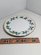 "12"" Round  Serving Platter in Christmas Ribbon Holly by Mikasa In Mint Condition"