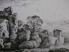 F. RECHBERGER ´SÄCHSISCHE LANDSCHAFT NACH DIETRICH (DIETRICY), RADIERUNG´  ~1800