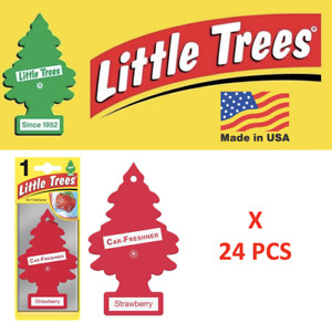 STRAWBERRY Little Trees  Air Freshener Tree 10312 1UP-10312 MADE IN USA 24 pcs