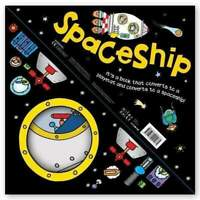 Miles Kelly Convertible SpaceShip 3 in 1 Book Playmat and Toy for Children NEW