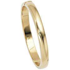 Armreif Armband oval 925 Silber gold vergoldet Kastenschloss
