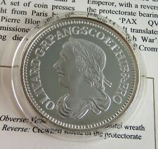 More details for the cromwell 1658 silver sixpence hallmarked silver proof museum collection coa