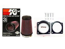 K&N Intake Filter + MAF Sensor Adapter W/screws For 01-03 Mazda B4000 4.0L V6