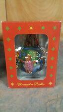 "Christopher Radko ""Teddies Around The World"" Large Christmas Ball Ornament New"