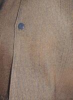 50's-60's PENNY Black & Gold Stripes! Camp Collar! Indented Pocket! ROCKABILLY M