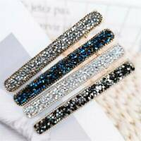 Women Girls Bling Hairpin Fashion Crystal Rhinestone Hair Clip Barrette Headwear