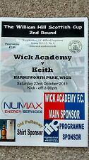WICK ACADEMY V KEITH 22/10/2011 SCOTTISH CUP