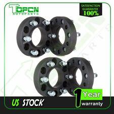 "4Pcs 1.25"" Thick 6x135 14x2 Black Hub Wheel Spacers For 2003-2014 Ford F-150"