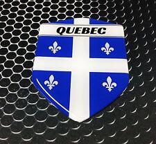Quebec Flag Fleurdelisé Proud Shield Flag Domed Decal Emblem Sticker 3D 2.3x 3.3