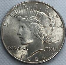 1924 Peace Dollar 90% Silver Dollar US Ungraded Coin Circulated