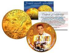 1977 ELVIS PRESLEY *Life & Times* IKE Dollar US Coin 24K Gold Plated *Licensed*