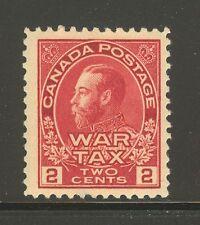 Canada #MR2, 1915 2c King George V - War Tax Issue, Unused Hinged