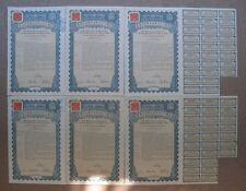 1938 Repubblica Cinese 27th ANNO 5 DOLLARI ORO PRESTITO Cina 6 OBBLIGAZIONI non SUPER petchili
