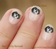 Lhasa Apso Portrait, Set of 24 Dog Nail Art Stickers, Decals from Kerioak