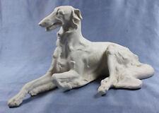 Seltener Bisquitporzellan Barsoi Windhund Figur hund Tirschenreuth Diller