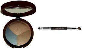 New Laura Geller Baked Eye Pie Shadow Trio in Blueberry Muffin w/dbl end brush!!