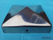 """100mm x 100mm(4"""")SQUARE STAINLESS STEEL PYRAMID POST CAP FENCE/RAILING/NEWEL TOP"""
