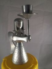 indonesian tin angel candle holder handmade sintara