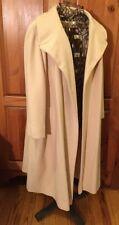 WOMEN'S IVORY CREAM BEIGE WOOL / CASHMERE COAT 3/4 sleeve Lined Jacket sz 24.5