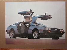 Vintage 1983 De Lorean original classic car poster man cave 7712