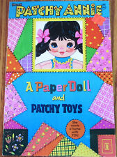 "Vintage NOS Saalfield Paper Doll Book ""Patchy Annie"" & Patchy Toys Uncut 1960s"