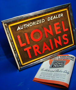 Rare 1934 Prewar Lionel 14 x 21 Illuminated Dealer Display Sign by Neon Products