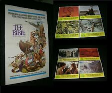 Original JOHN HUSTON THE BIBLE IN THE BEGINNING Lobby Card Set + One Sheet